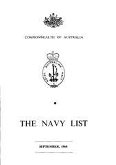 Navy List for September 1968