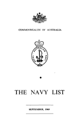 Navy List for September 1969