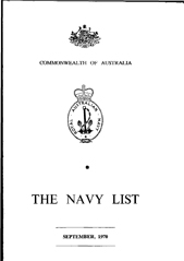 Navy List for September 1970