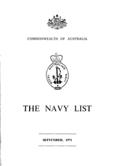 Navy List for September 1971