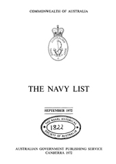 Navy List for September 1972