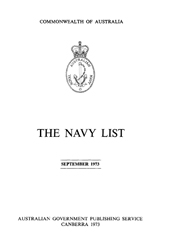 Navy List for September 1973