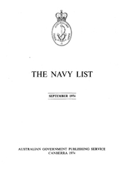 Navy List for September 1974