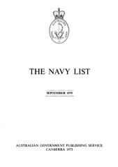 Navy List for September 1975