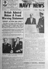 Navy News cover 15 September 1961
