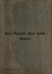 Royal Australian Naval College Magazine July 1913 cover