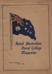 Royal Australian Naval College Magazine 1916 cover