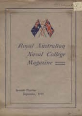 Royal Australian Naval College Magazine 1919 cover