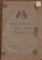 Royal Australian Naval College Magazine 1920 cover