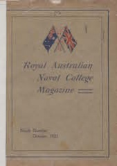 Royal Australian Naval College Magazine 1921 cover