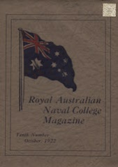 Royal Australian Naval College Magazine 1922 cover