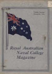 Royal Australian Naval College Magazine 1924 cover