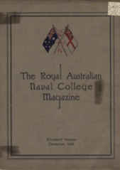 Royal Australian Naval College Magazine 1925 cover