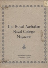 Royal Australian Naval College Magazine 1929 cover