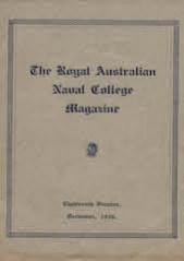 Royal Australian Naval College Magazine 1930 cover