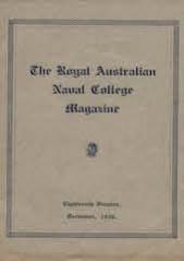 Royal Australian Naval College Magazine 1930 cover