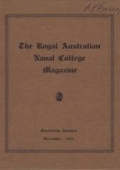 Royal Australian Naval College Magazine 1931 cover