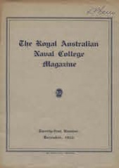 Royal Australian Naval College Magazine 1933 cover