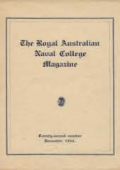 Royal Australian Naval College Magazine 1934 cover