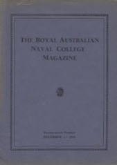 Royal Australian Naval College Magazine 1938 cover