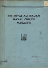 Royal Australian Naval College Magazine 1939 cover
