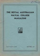 Royal Australian Naval College Magazine 1940 cover