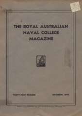 Royal Australian Naval College Magazine July 1943 cover