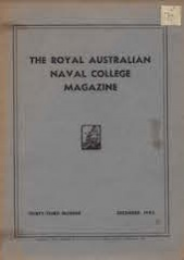 Royal Australian Naval College Magazine 1945 cover