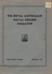 Royal Australian Naval College Magazine 1946 cover