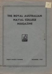 Royal Australian Naval College Magazine 1946 cover