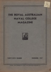 Royal Australian Naval College Magazine 1947 cover