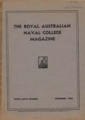 Royal Australian Naval College Magazine 1948 cover
