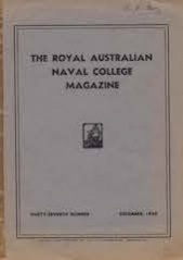 Royal Australian Naval College Magazine 1949 cover