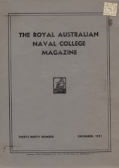 Royal Australian Naval College Magazine 1951 cover