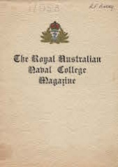 Royal Australian Naval College Magazine 1953 cover