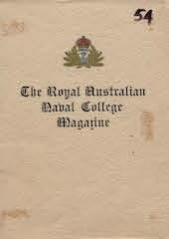 Royal Australian Naval College Magazine 1954 cover