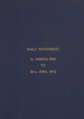 Daily Movement Summaries - March 1942