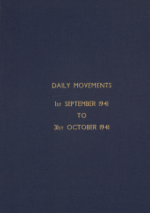 Daily Movement Summaries - September 1941