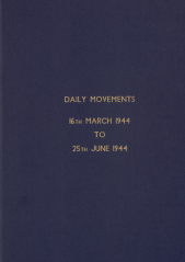 Daily Movement Summaries - March 1944