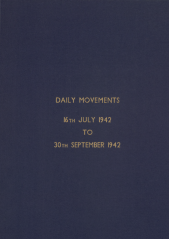 Daily Movement Summaries - July 1942