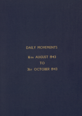 Daily Movement Summaries - August 1943