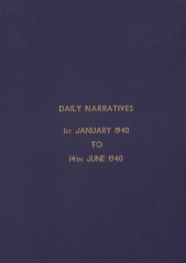 Daily Operational Narratives - January 1940