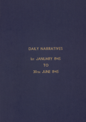 Daily Operational Narratives - January 1945