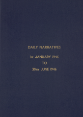 Daily Operational Narratives - January 1946