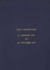 Daily Operational Narratives - January 1947