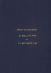 Daily Operational Narratives - January 1948