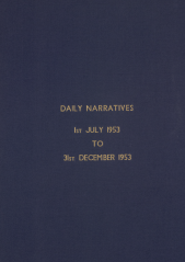 Daily Operational Narratives - July 1953