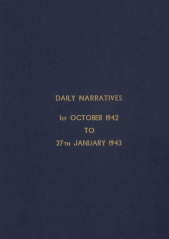 Daily Operational Narratives - October 1942