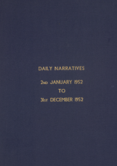 Daily Operational Narratives - January 1952
