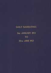 Daily Operational Narratives - January 1953